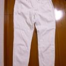 ユニクロ 7分丈白スリムパンツ レギンス レディース Mサイズ
