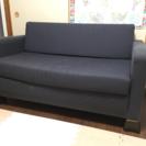 IKEA 2人掛けソファーベッド、クッション