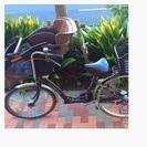 子供乗せ自転車 カゴ付き レインカバー付き