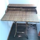 折りたたみ 藤編みテーブル