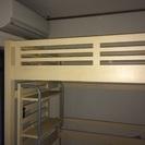 マホガニー材木製ロフトベッド
