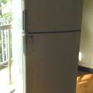 ボロい冷蔵庫 さっきまで稼働中