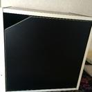 キューブボックス 扉付き 黒