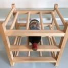 IKEAの木製ワインセラー