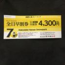 七飯スノーパーク 1日リフト券 4/2まで利用可 送料無料 ※複数枚あり