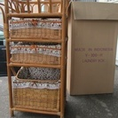 <商談中>籐のランドリーボックス 2000円 チェスト洗濯カゴ 収納家具