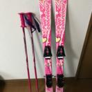 スキー板 ストック 女の子用