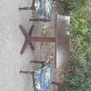 カフェで使われていたテーブル&チェア