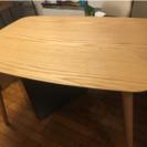 新品同様 割と高価なダイニングテーブル4人 木製天板 検索(モモナ...
