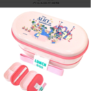 新品♡不思議の国のアリス♡弁当箱♡二段♡ピンク♡ランチボックス