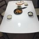 120*80食卓と椅子2個