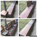 DIY  ガーデンベンチストッカー