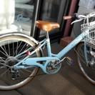 ジュニア用自転車(水色)女子用22型
