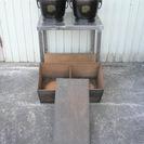 古民具 火鉢 金属製 1対 木箱あり