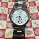 ハート柄の腕時計♪(女性用時計)