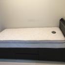 イケア シングルベッド(マットレス付き)