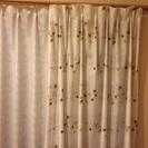 北欧風柄のカーテン(日本製)