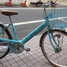 800円 24インチ 水色自転車