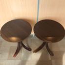 サイドテーブル2個セット