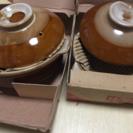新品箱入り 1人用土鍋!15、5㎝ 2個セット