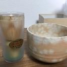 高山茶筌百弐拾本立 萩焼抹茶碗 セット