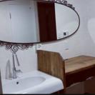 IKEAウォールミラー全身鏡☆アイアンアンティークスタイリッシュ