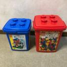 LEGOブロック 赤箱、青箱