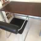 NOCEの机、デザイン椅子 (このセットが2セットあります)