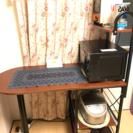 【美品】収納付きテーブル