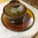 汁粉椀個盆付き5個セット