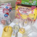 メデラ手動搾乳機と母乳用品セット