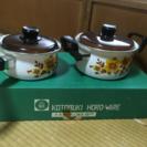 ホーロー鍋のセット
