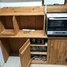 カントリー調のキッチン収納