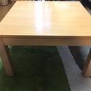 無印 正方形 こたつ テーブル ベージュ