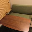2人掛けソファ、カフェテーブルセット