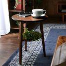 天然木ツキ板のサイドテーブル