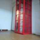 ロンドン電話BOX風 ハンガーラック