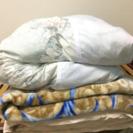 掛け布団、毛布、敷布団