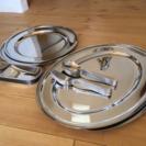 オードブル皿 ステンレス 大皿 フォーク スプーン パーティ サー...