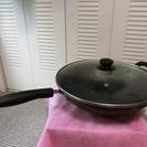 蓋、ハンドル付き中華鍋
