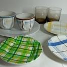 美品 皿 コーヒーカップ グラスセット