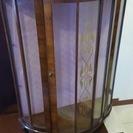 アンティーク ガラスケース キャビネット 2段式