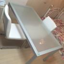 ダイニングテーブル 強化ガラス