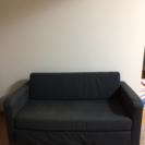 【明日午前まで】IKEA二人掛けソファベッドSOLSTA