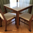 【明日午前まで】ニトリ ダイニングテーブルセット(椅子2脚)