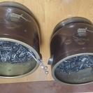 金属製火鉢 二個セット(火箸付き)