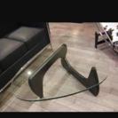 デザイナーズリビングガラステーブル 三角