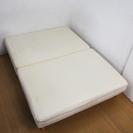 脚付きマットレスベッド ダブルサイズ 幅1400