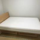 無印オーク最高級ベッド 、マットレス 三カ月だけ使用!