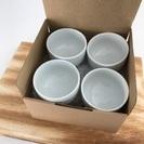 無印良品の白磁煎茶碗×4客